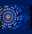 cyber security concept digital with circle vector image