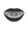 dental braces glyph icon vector image