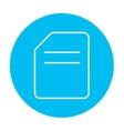 Document line icon vector image