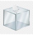 empty election box mockup realistic style vector image