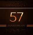 fifty seven years anniversary celebration logotype vector image vector image