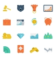 Finance exchange icons flat vector image vector image