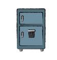 fridge kitchen appliance vector image vector image