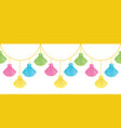 fun colorful decorative tassels set vector image vector image