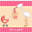 girl birthday card vector image vector image