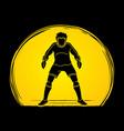 goalkeeper soccer vector image vector image