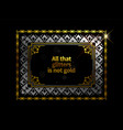 gold ethnic frame background vector image vector image