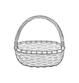 Hand drawn basket vector image