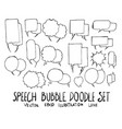 hand drawn bubble isolated sketch black and white vector image vector image