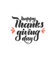 Hand lettering - happy thanksgiving