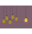 Hanging light bulbs vector image vector image