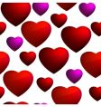 heart seamless background pattern vector image vector image