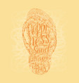 hipster hand drawn flip flop with inscription vector image