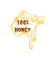honey sketches logo bee hive honey jar barrel vector image