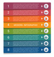 infographics from color strips modern vector image vector image