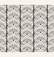 japanese floral monochrome kimono pattern vector image