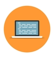 Laptop with coding icon vector image vector image