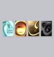 liquid metal gragients collection fluid design vector image