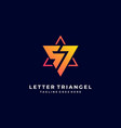 logo letter triangle gradient colorful vector image