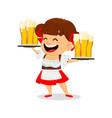 oktoberfest beer festival funny woman vector image vector image