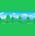 pines seamless line in mountain landscape vector image vector image