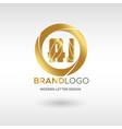 premium aj logo in gold beautiful logotype design