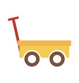 push cart toy object for small children to play vector image vector image