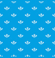 quality heater pattern seamless blue vector image vector image