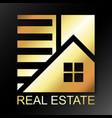 real estate business company golden symbol vector image