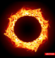 realistic burning black fire flame sun vector image
