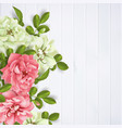 realistic pink rose 3d roses vector image vector image
