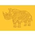 Rhinoceros color drawing raster vector image