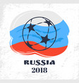 russia football signs and flag vector image vector image