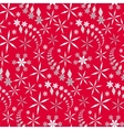 Seamless christmas pattern Snowflakes crystals vector image
