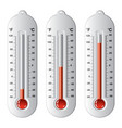 set of thermometers at different levels vector image vector image