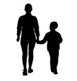 silhouette of happy family on a white background vector image vector image