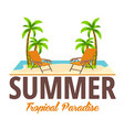 summer beach bar travel juice cocktails beer vector image