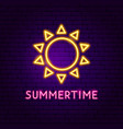 summertime neon label vector image vector image