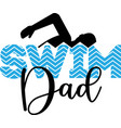 swim dad isolated on white background vector image vector image