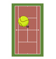 Tennis field and ball Game of tennis Game ball vector image vector image