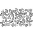 the texture of the eggs vector image vector image