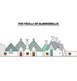 the trulli of alberobello line travel landmar vector image vector image