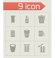 trash icon set vector image vector image