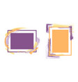 trendy frames with paint brush strokes vector image vector image