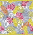 tropical pattern with pineapple vector image vector image