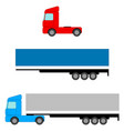 truck flat image tow tractors and awning van vector image