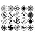 Wheel rims vector image vector image
