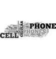 why and how to buy a cell phone text word cloud vector image vector image