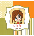young girl smiling vector image vector image