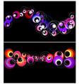 Colorful circles horizontal banner vector image